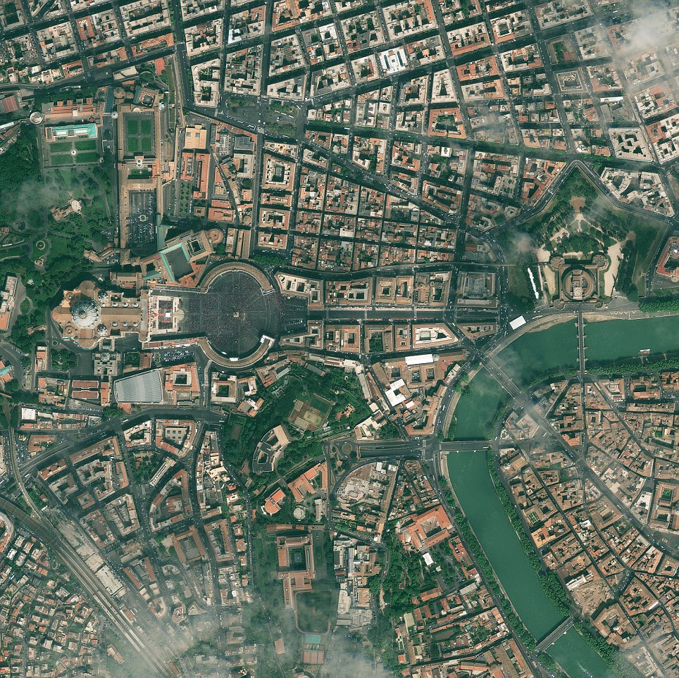 Vatican City as seen by GeoEye