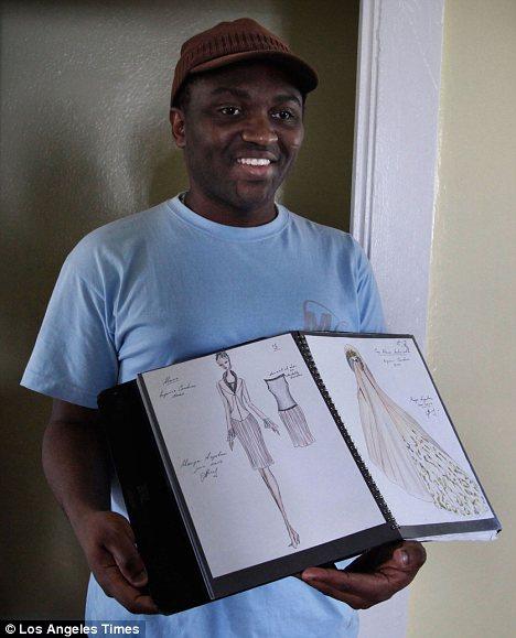 Impressive: Mason Ewing has become a fashion designer despite being blind