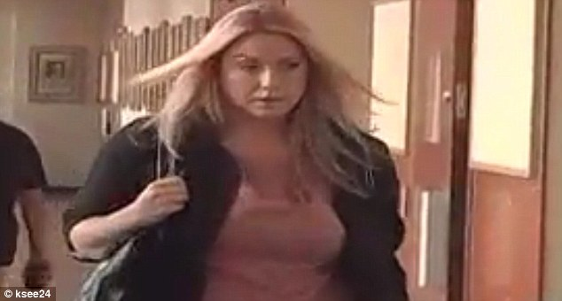 Scandal: Teacher Megan Denman, 29, plead not guilty this morning at court in Fresno, California to having sex with an underage male student
