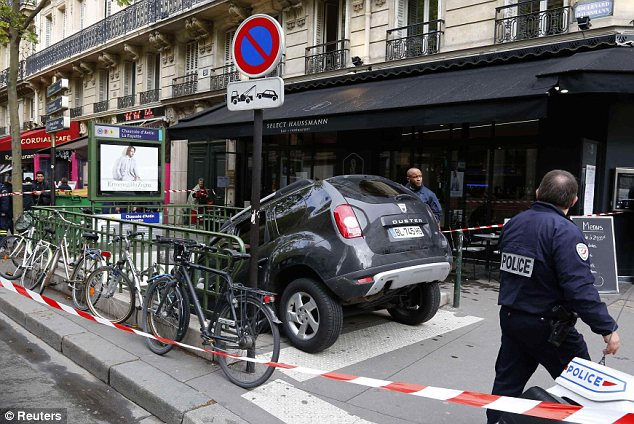 Lucky: Paris traffic police said the driver would not be prosecuted as he did not put anyone in danger and there was no damage to the Metro or the public road