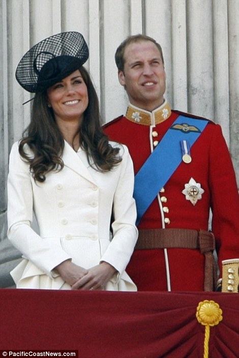 Kate and William attend the Queen's official birthday at the Horse Guards Parade, London