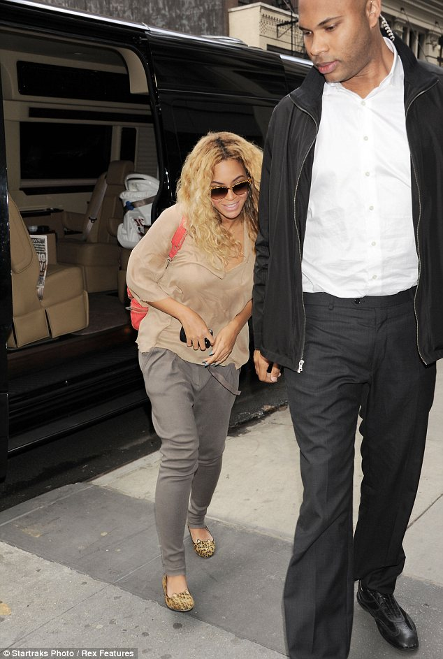 Chilled: Beyonce, seen here in New York says motherhood has transformed her in a low-maintenance diva
