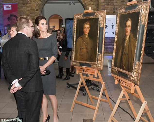 Kate the Great: The Duchess is shown paintings of two of Lord Rothermere's Great Uncle's who were killed during the First World War