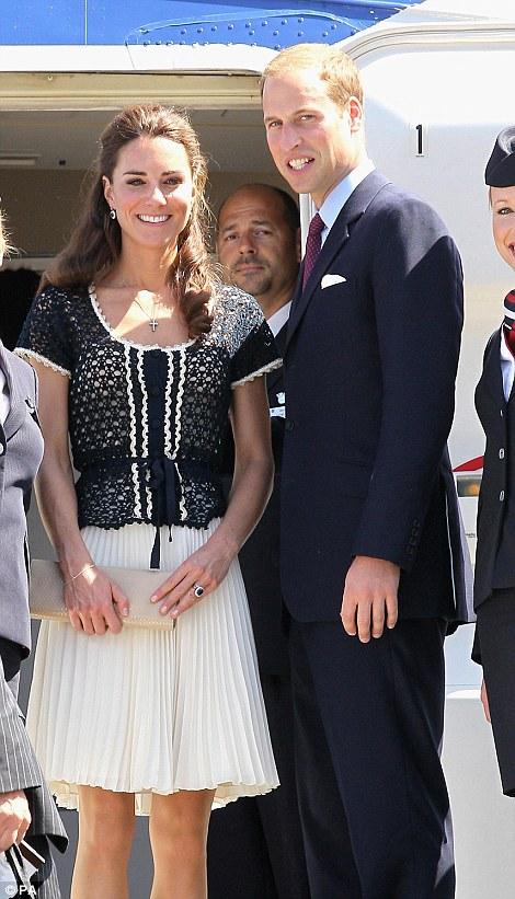 The Duke and Duchess of Cambridge depart LAX airport