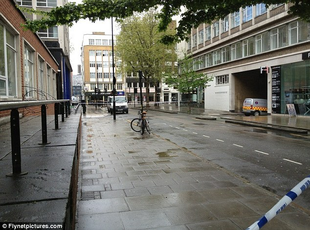 The area around Tottenham Court Road has been almost completely cleared by police