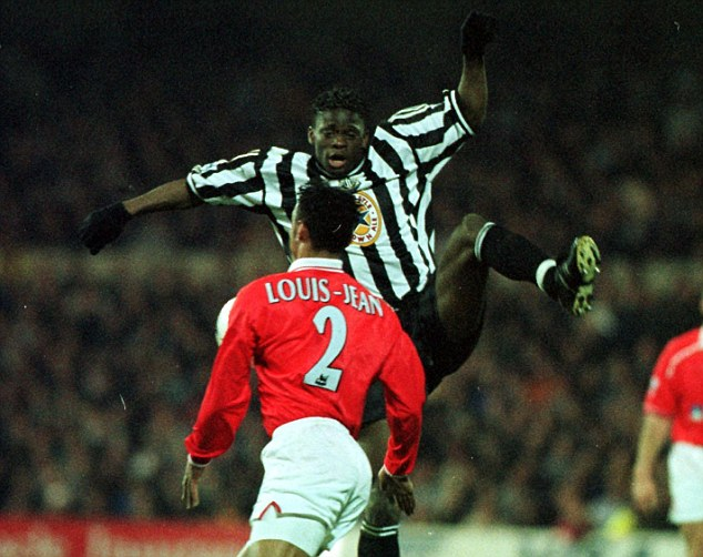 Talk of the Toon: Saha made a name for himself with Newcastle in 1999 under Gullit