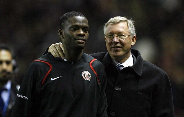Eye-opening introduction: Saha felt the wrath of Sir Alex Ferguson (right)