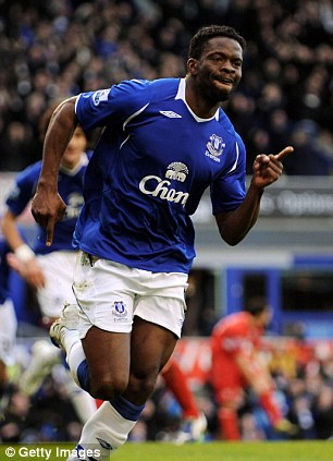 Productive: Saha was always among the goals at Everton