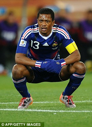 Empathy: Patrice Evra was lost in Italy