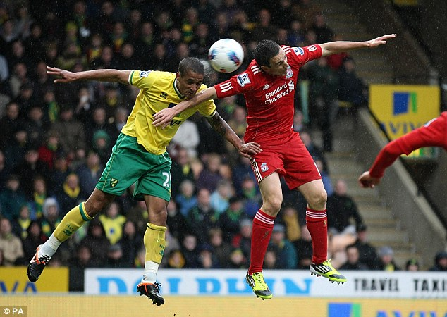 Wing wizards: Liverpool's Stewart Downing (right) and Kyle Naughton flying high