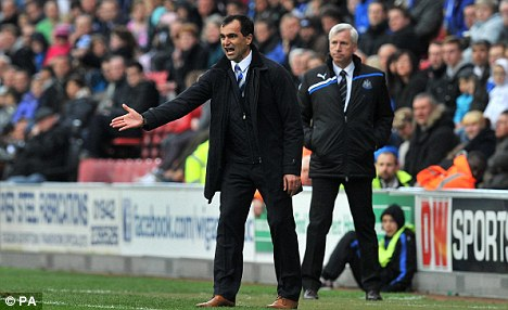Impressive job: Roberto Martinez could be a shock replacement for Harry Redknapp at Spurs