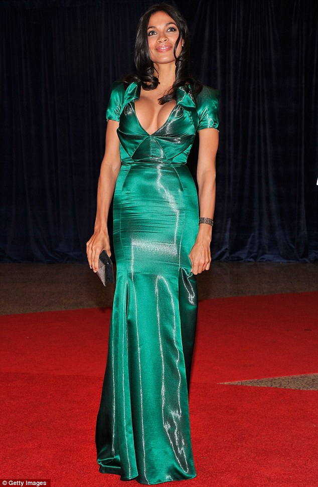Eye-popping: Rosario Dawson went a little bit too racy as she attended the more conservative 98th Annual White House Correspondents' Association Dinner last night