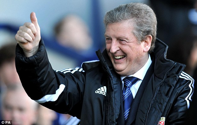 Thumbs up: Hodgson is in talks with England over the vacant managerial position