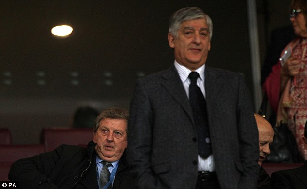 In good company: Hodgson (left) is seen here pictured with Bernstein last month