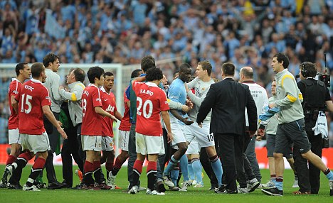 Tempestuous: Monday's Manchester derby could prove hard to control