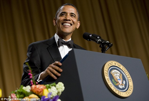 Evening of levity: President Obama delivers remarks at the 2012 White House Correspondents Association Dinner, during which he made light of the attendance of some of the celebrity guests
