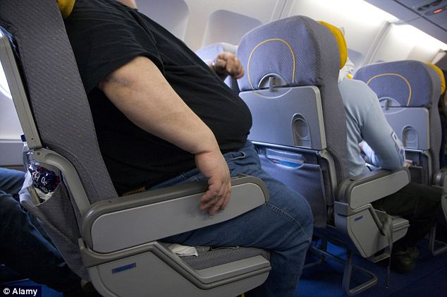 Making changes: Airplane seating has long been an issue for flyers as obese passengers have to decide whether to book one seat or two