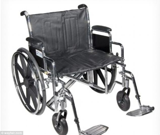 Big wheelers: The wheelchairs are just one of many steps the Hospital is taking to deal with obese patients