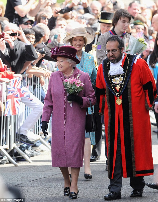 The Queen looked delighted to have been given such a warm welcome in her hometown