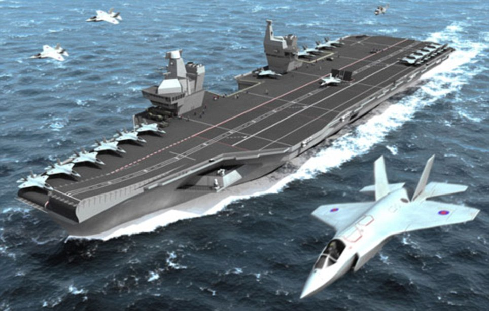 How it will look: An artist's impression of HMS Queen Elizabeth