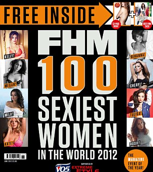 The full list appears in this month's FHM magazine