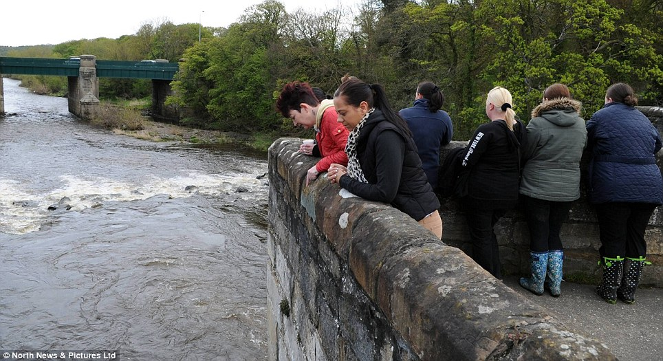 Massive effort: Specialist teams were joined by members of the public as they trawled 13 miles of the River Wear in County Durham, but there has been no sign of the youngster