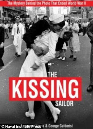 Frozen in time: Alfred Eisenstaedt, left, took the photo for LIFE magazine on August 14, 1945; new book 'The Kissing Sailor', right, tells the story of that day