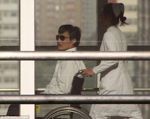 Free: Chen Guangcheng has left the U.S. embassy 'of his own volition' and was taken to Chaoyang hospital in Beijing