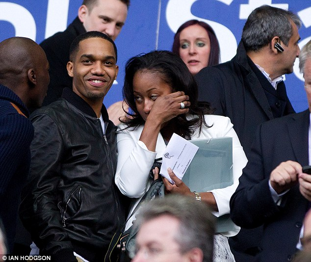 Overcome: Muamba's fiancee, Shauna, also wept in the stands at the Reebok Stadium