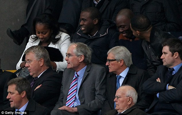 Back seat: Muamba settled down afterwards to watch his Bolton team-mates take on Spurs