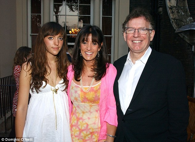Before the diagnosis: Philip, Gail and daughter Grace in 2006