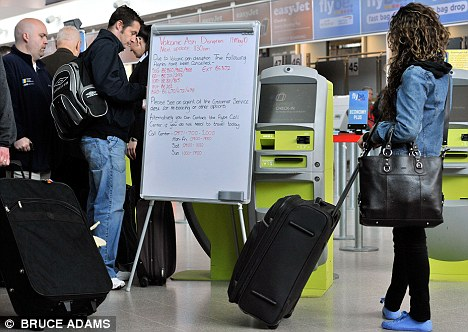 Bad advice: The Marshalls (not pictured) were trapped like so many travellers across Europe, but were wrongly told by their airline to make their own way home. A judge said Iberia failed to re-route them as soon as possible