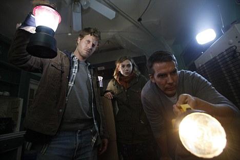 Remake: Elizabeth Olsen as Sarah, Eric Sheffer-Stevens as Peter and Adam Trese as John in Silent House