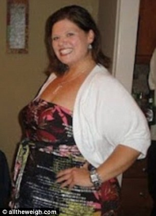 Looking happy: Tiggeman says she aims to work out for 1,000 minutes per month and has lost 120lbs over the last three years