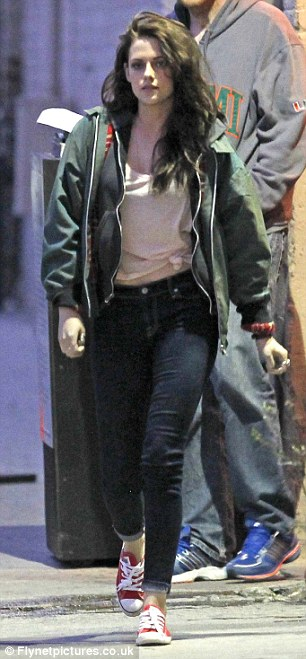 Had a long day, Kristen? Miss Stewart smiled at the cameras as she arrived to record a segment for the show but looked tired and ready for bed when she left