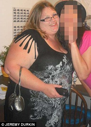 Eating for two: The mother-of-three piled on the pounds during her three pregnancies and said she was more out going when she was fat than she is now