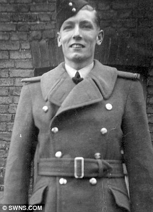 RAF serviceman Richard Birtle who was a prisoner at the notorious Stalag III camp during World War II