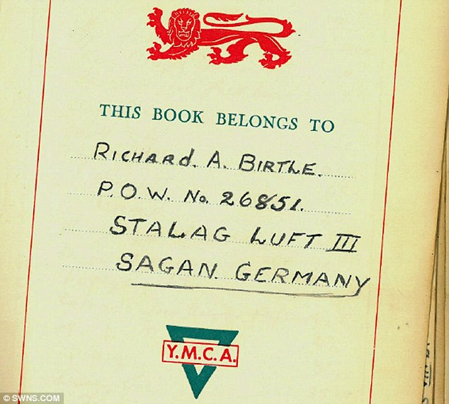 Paper records: The official documents of Richard Birtle from his time in the Stalag III camp