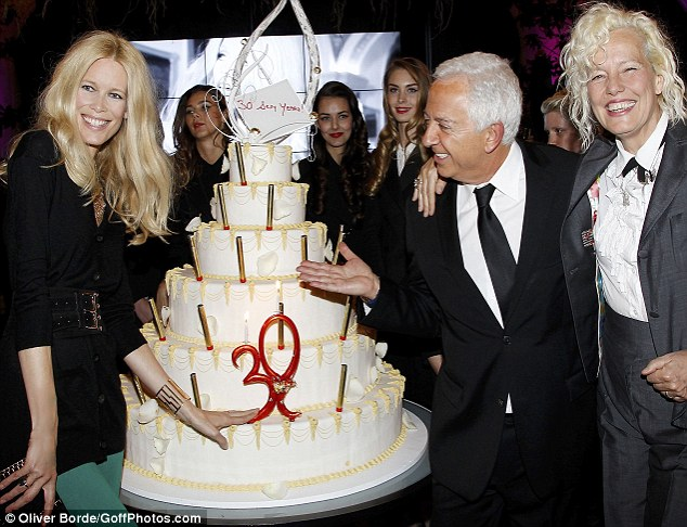 Bon anniversaire: The guests partied at the George V Hotel in Paris, France