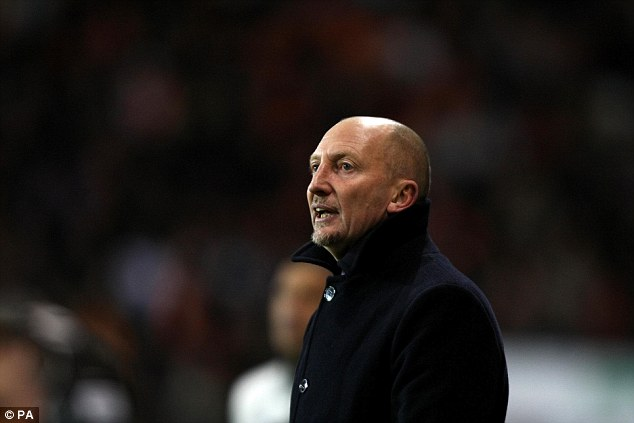 One foot in the final: Ian Holloway saw his side take a slender lead into the second leg