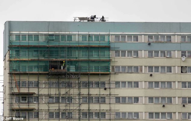 Now there's a sight: The army placed a surface-to-air missile on top the Fred Wigg tower block in Waltham Forest as part of a series of security tests for the Olympics