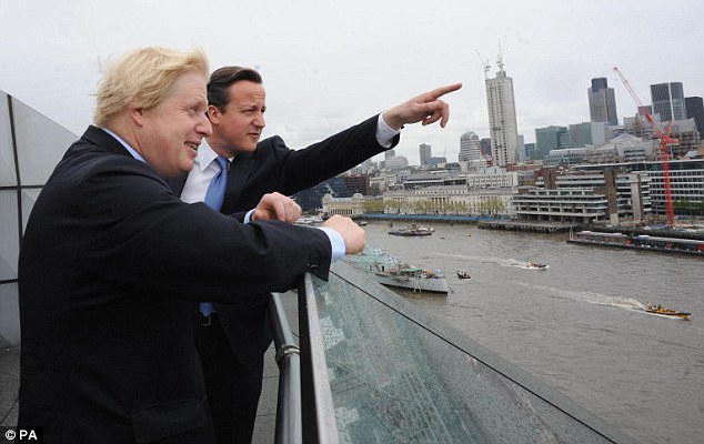 Backing: The Prime Minister praised Boris Johnson for running a 'very strong' campaign and said he had enjoyed backing his bid for re-election