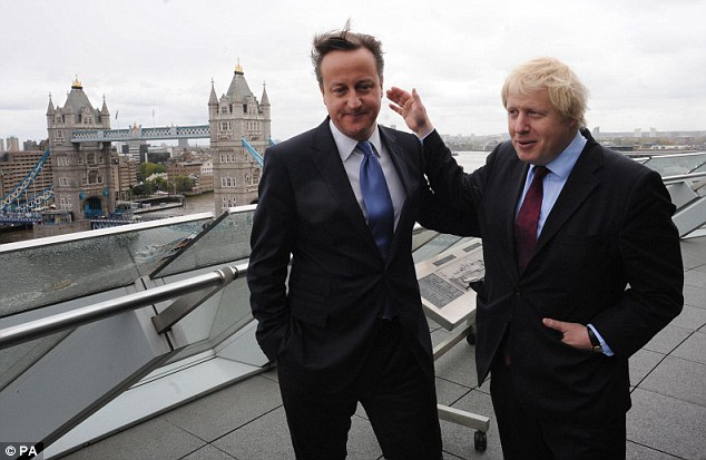 Rivals? Boris Johnson, right, triumphed in London despite an election drubbing for David Cameron and the Conservative party