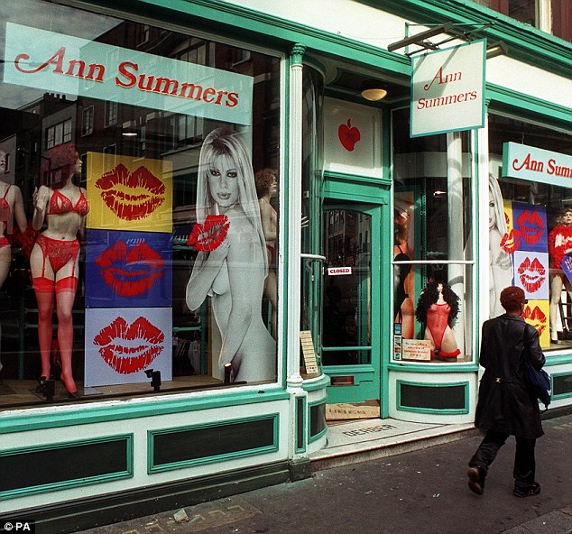 High Street chain Ann Summers, is known for selling kinky lingerie and erotic toys