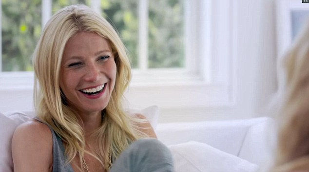 Bedroom secrets: Gwyneth Paltrow was quizzed about her favourite sex position by Amanda De Cadenet on her Lifetime show The Conversation
