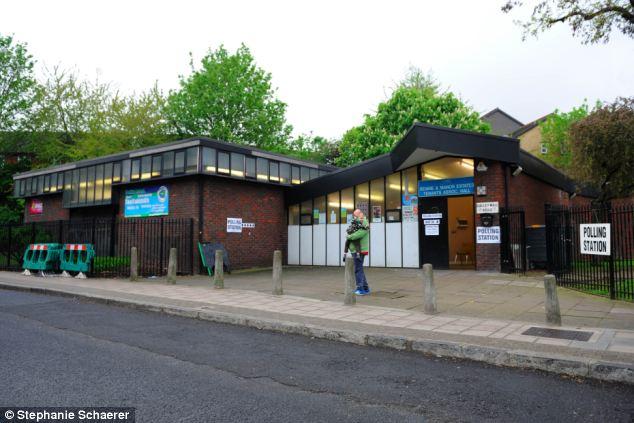 Safety: The polling station in Galleywall Road, Bermondsey where alleged war criminal Milan Sarcevic volunteered