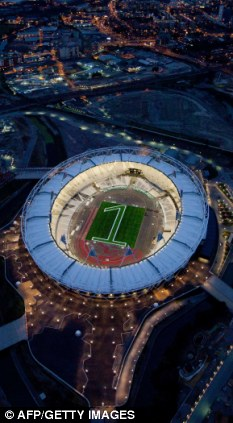 Strict: An aerial view of the Olympic Stadium in east London, where there will be strict rules when the Games start