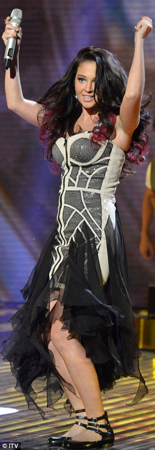 Gave it her all: Tulisa celebrated a stellar week by performing her No.1 hit Young on Britain's Got Talent this evening