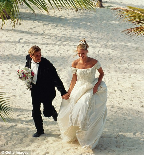 Savings: With the average UK wedding costing £18,500, couples say they can shave £5,000 from that price - and still have their dream wedding - by travelling to foreign climes