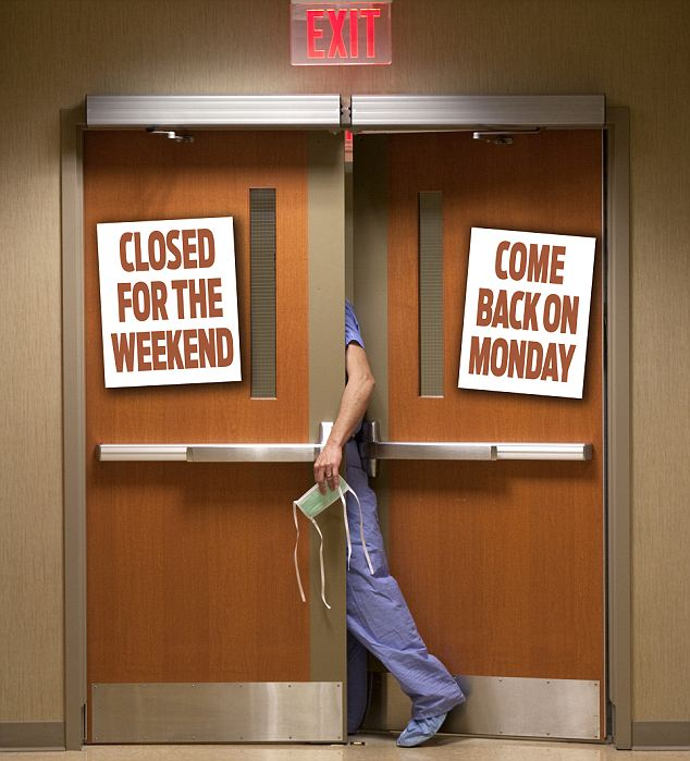 Dr Nick Edwards warns that weekends are not the time you'd want to be in hospital